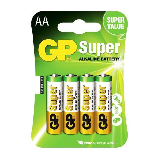 Батарейка алкалиновая GP SUPER R03 BL4 (4x10=40) ALKALINE (ААА)