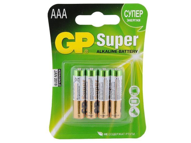 Батарейка алкалиновая GP SUPER R06 BL4 (4x10=40) ALKALINE (АА)