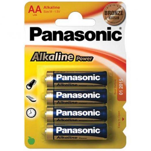Батарейка алкалиновая PANASONIC R06 BL4 (4x10=40) ALKALINE (АА)