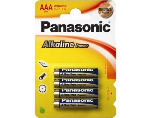 Батарейка алкалиновая PANASONIC R03 BL4 (4x10=40) ALKALINE (ААA)