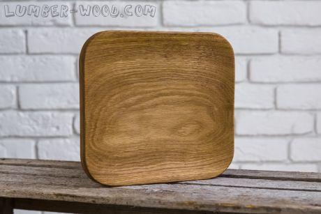 Деревянная тарелка для подачи, квадрат! Необычная серия. арт. 615