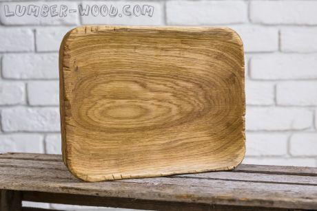 Деревянная тарелка для подачи, большая! Необычная серия.  арт. 616