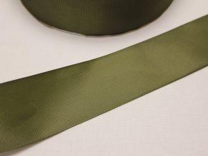 Лента репсовая однотонная 50 мм, длина 25 ярдов, цвет: хаки