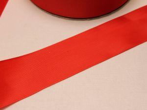 Лента репсовая однотонная 50 мм, длина 25 ярдов, цвет: красный