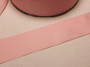 Лента репсовая однотонная 50 мм, длина 25 ярдов, цвет: светло-розовый