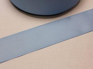 Лента репсовая однотонная 50 мм, длина 25 ярдов, цвет: светло-голубой