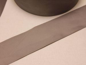Лента репсовая однотонная 50 мм, длина 25 ярдов, цвет: серый