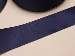 Лента репсовая однотонная 50 мм, длина 25 ярдов, цвет: темно-синий