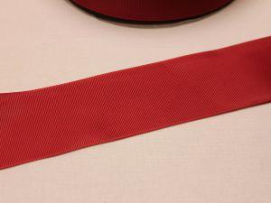 Лента репсовая однотонная 50 мм, длина 25 ярдов, цвет: бордовый