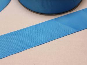 Лента репсовая однотонная 50 мм, длина 25 ярдов, цвет: голубой