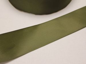 `Лента репсовая однотонная 50 мм, цвет: хаки