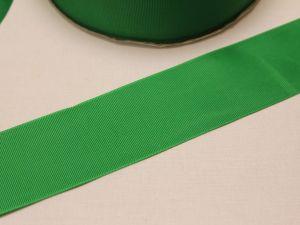 `Лента репсовая однотонная 50 мм, цвет: зеленый