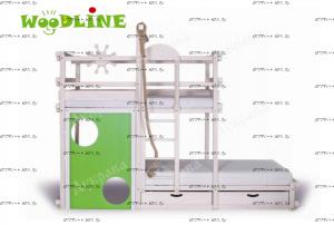 Кровать двухъярусная Пенальти массив