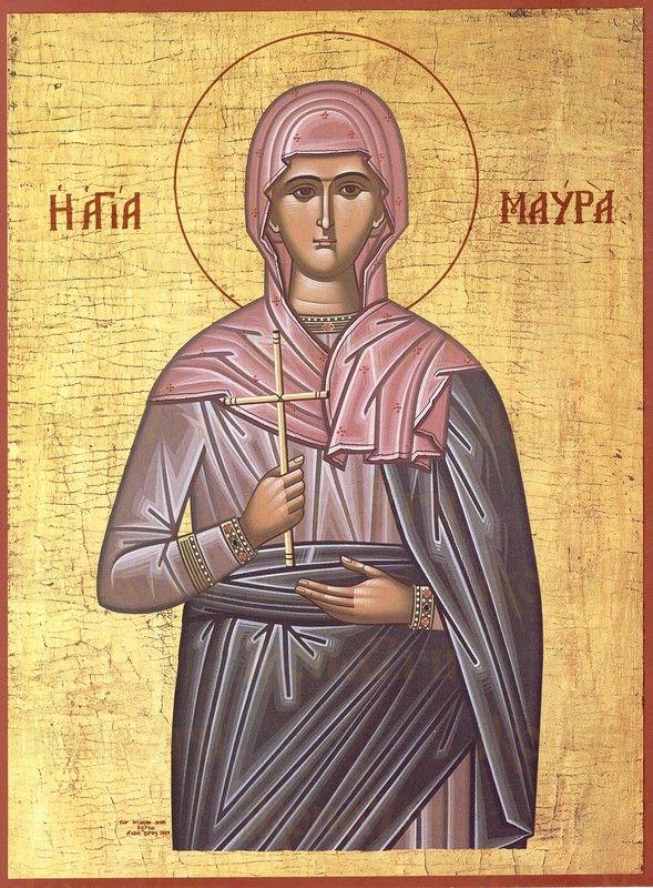 Мавра Фиваидская (рукописная икона)