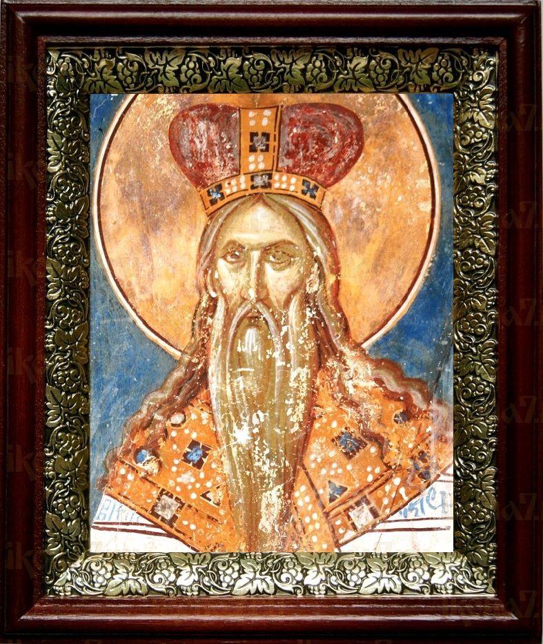 Аарон Первосвященник (19х22), темный киот