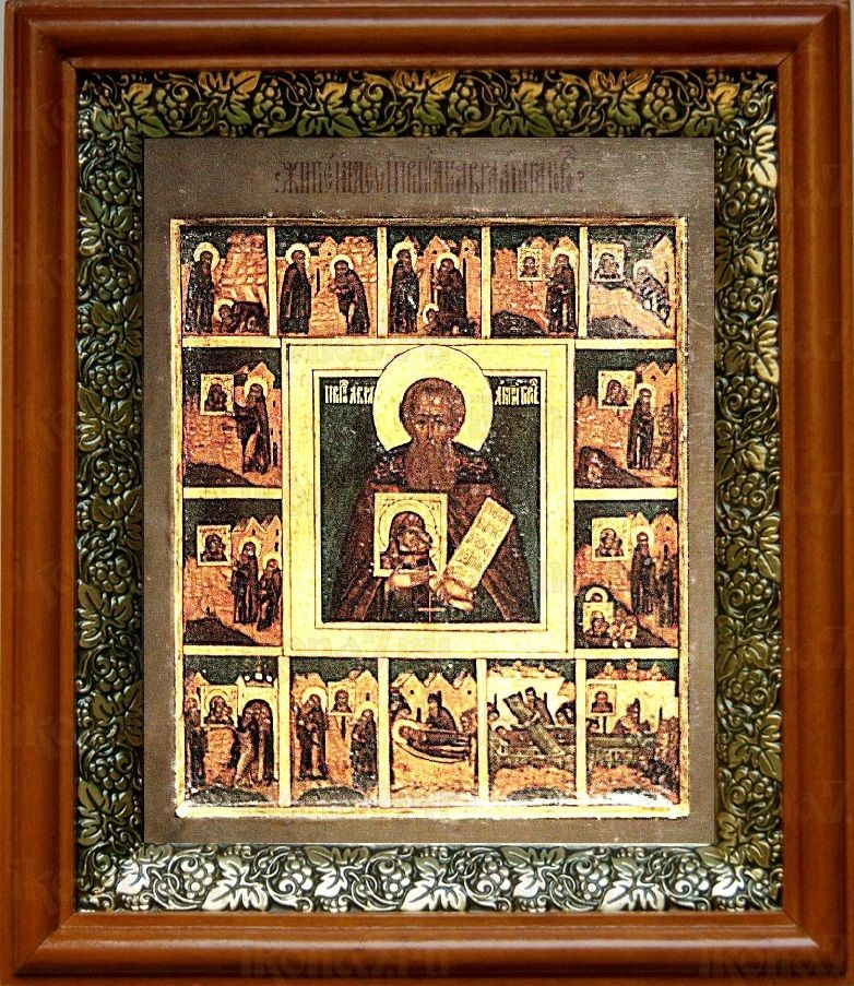 Авраамий Галичский (19х22), светлый киот