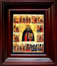 Авраамий Галичский (21х24), простой киот