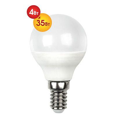 Лампочка светодиодная Dialog G45-E14-4w-3000k