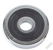 Блин хромированный с резиновой вставкой Torneo 1,25 кг 1022-12X 30 мм