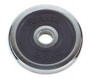 Блин хромированный с резиновой вставкой Torneo 2,5 кг 1022-25X 30 мм