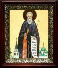 Авраамий Ростовский (19х22), темный киот
