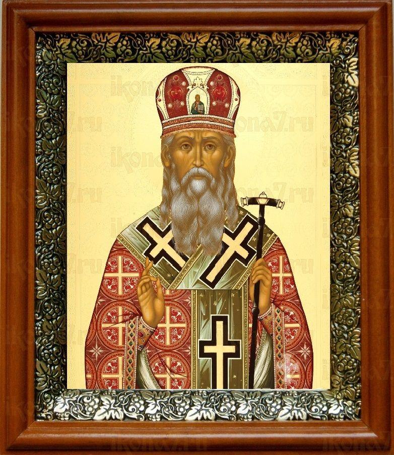 Агафангел Ярославский (19х22), светлый киот