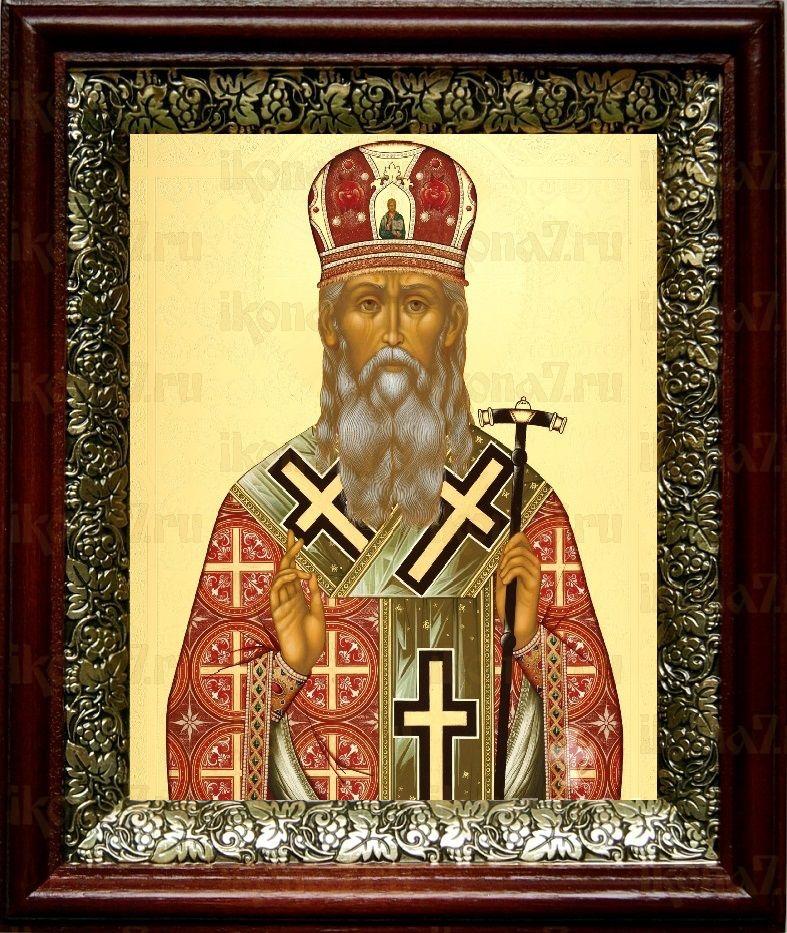 Агафангел Ярославский (19х22), темный киот