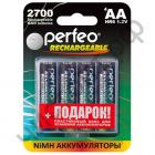 Аккум.Perfeo AA R6 2700mAh 4BL+BOX