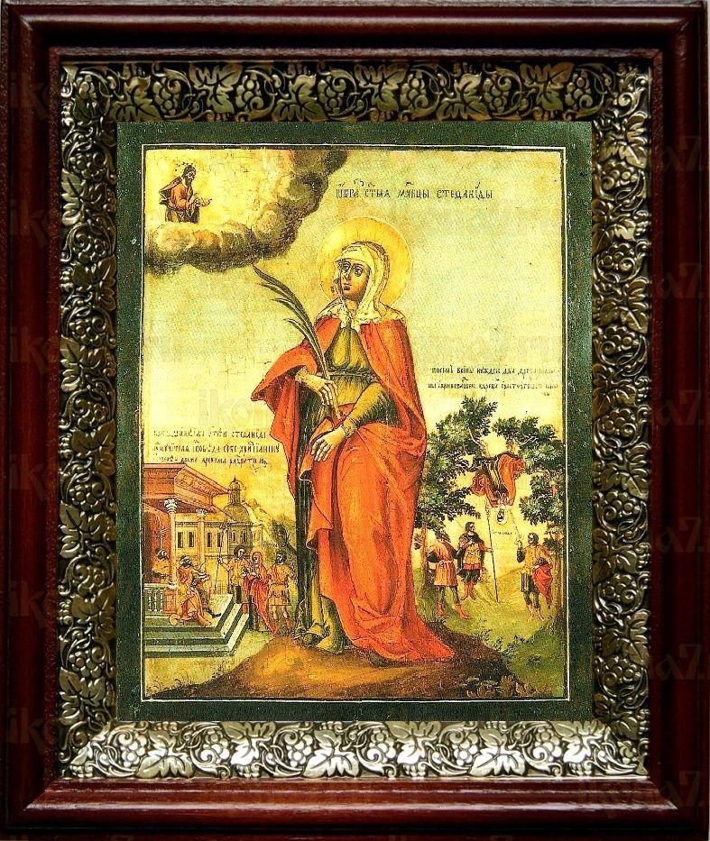 Стефанида Дамасская (19х22), темный киот