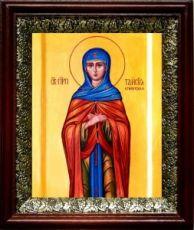 Таисия Египетская (19х22), темный киот