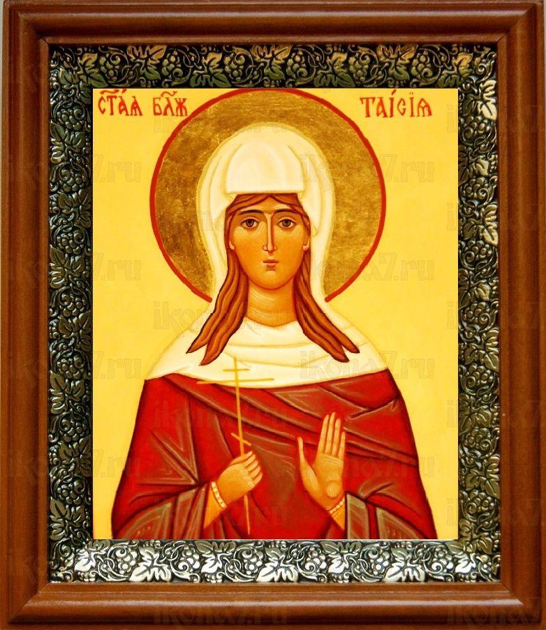 Таисия Египетская (19х22), светлый киот