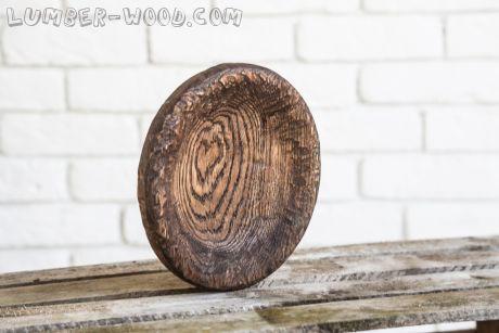 Деревянная тарелка круглая, маленькая. арт. 648
