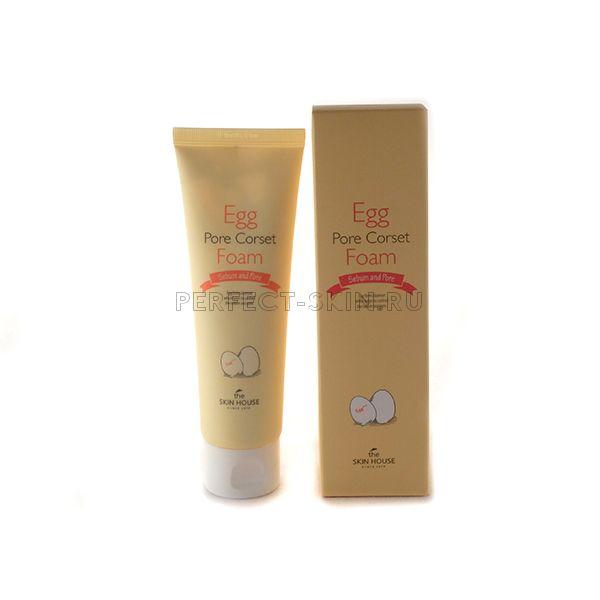 The Skin House Egg Pore Corset Foam - Пенка с яичным экстрактом для сужения пор