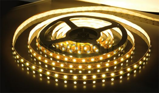 СД лента 9.6Вт SMD2835-120LED 820Lm 12V IP33 3000K (теплый белый) OREOL
