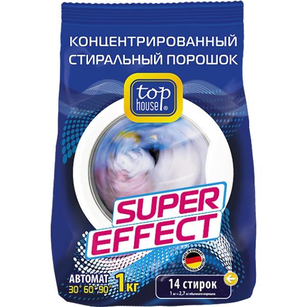 """Порошок стиральный Top House """"Super Effect"""", концентрированный, 1 кг"""