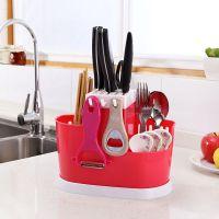 Органайзер для хранения столовых приборов Chopsticks Cage (розовый)
