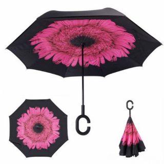 Зонт Наоборот UnBrella (Розовый цветок)