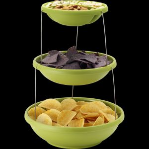 Складная пластиковая ваза для фруктов и снеков Twistfold Party Bowls