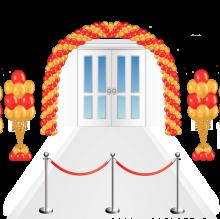 Открытие магазина, украшение шарами