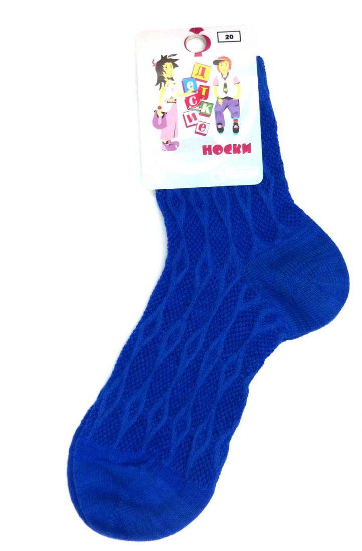 Синие ажурные носочки для девочки 6-8 лет
