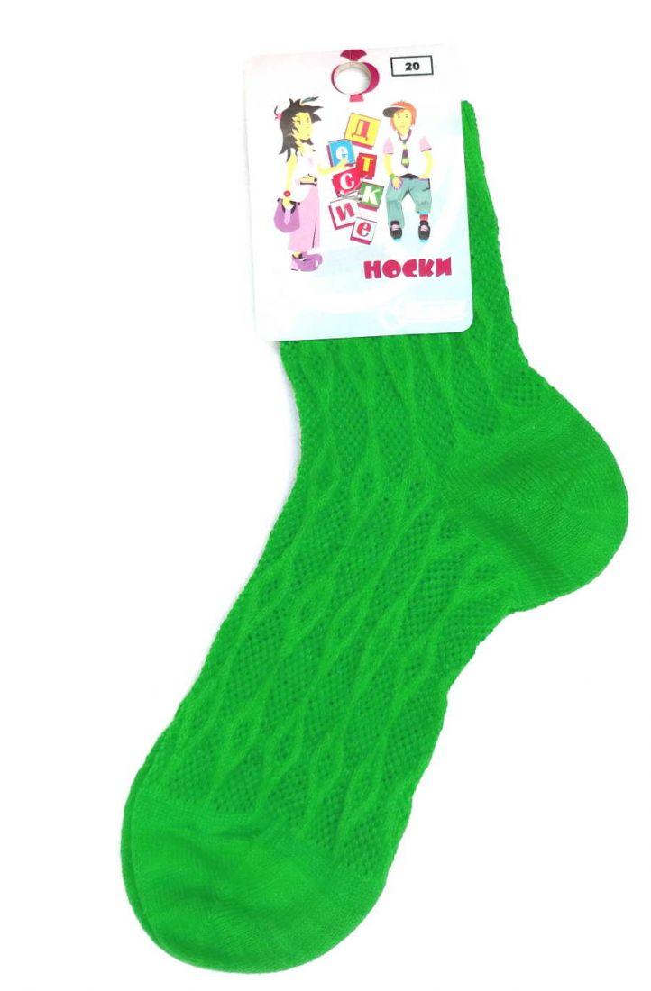 Зеленые ажурные носочки для девочки 6-8 лет