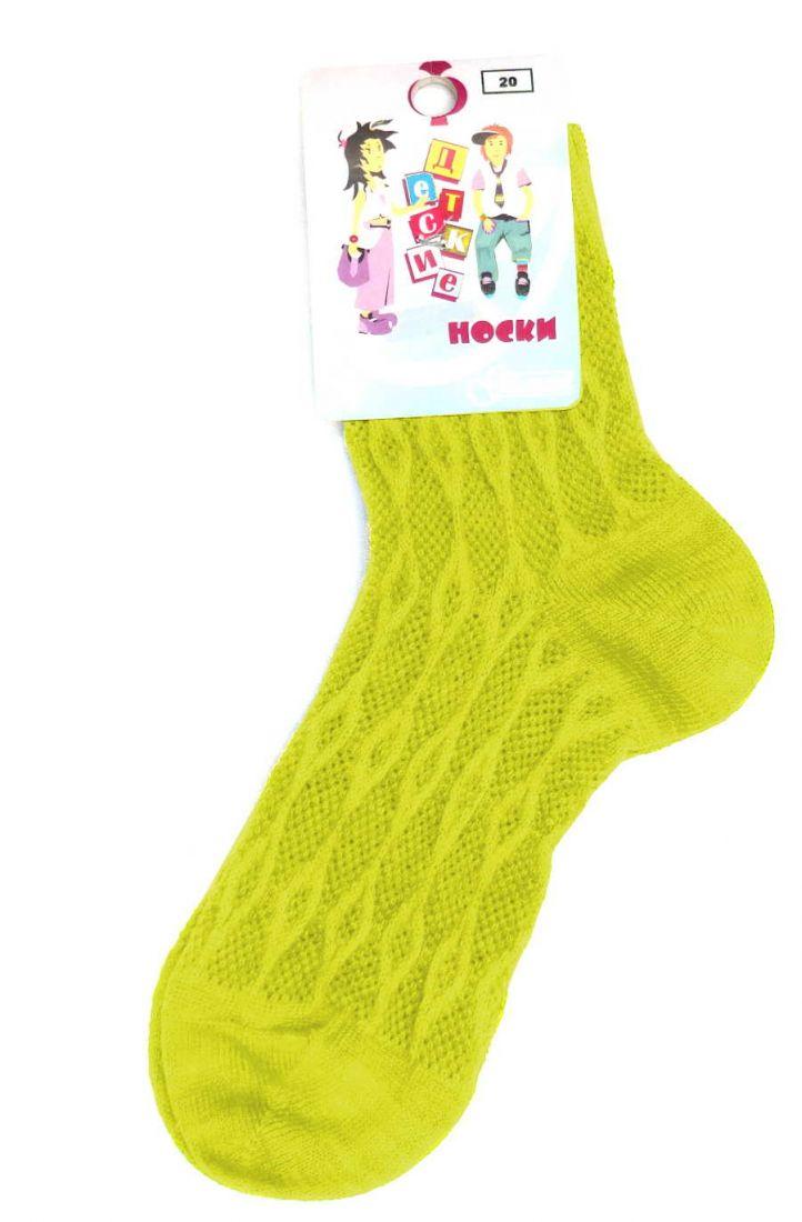 Желтые ажурные носочки для девочки 6-8 лет