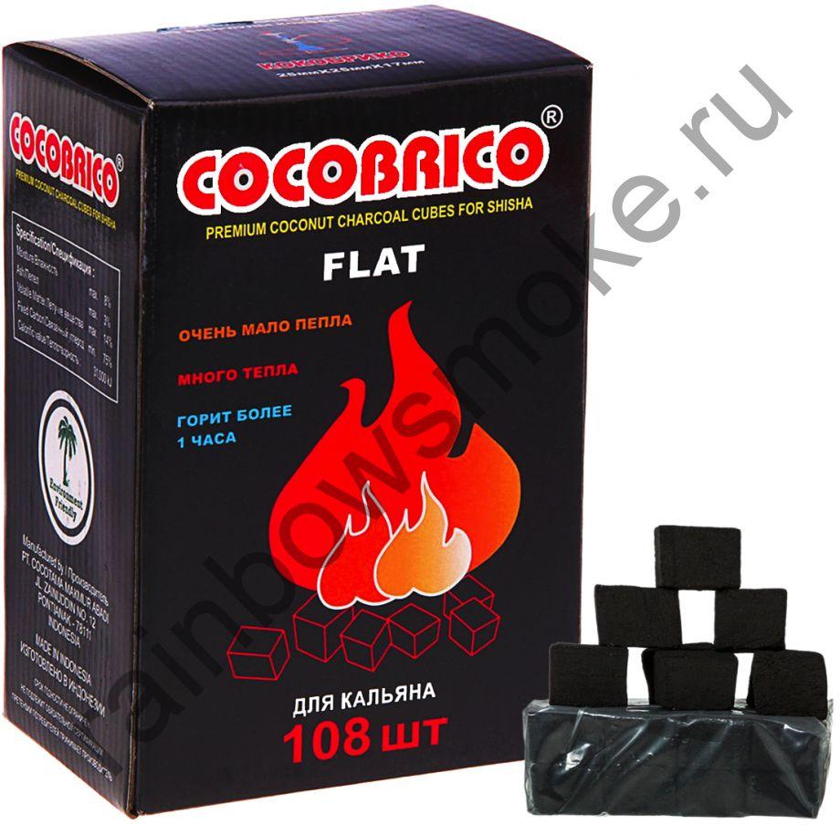 Уголь кокосовый для кальяна Cocobrico Flat (108 шт)