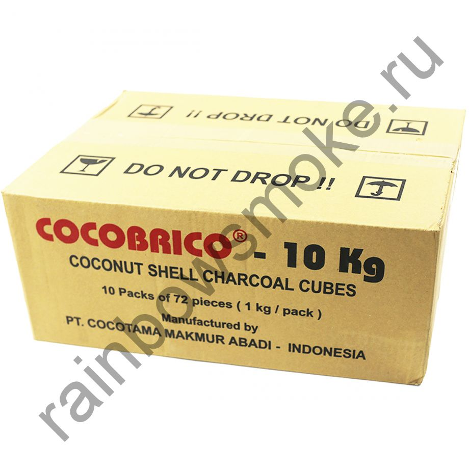 Уголь кокосовый для кальяна Cocobrico коробка (12 уп по 72 кубиков)
