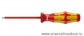 Отвертка диэлектрическая крестовая Phillips WERA Kraftform Plus 162 i VDE, PH 3 / 150 мм, 006156