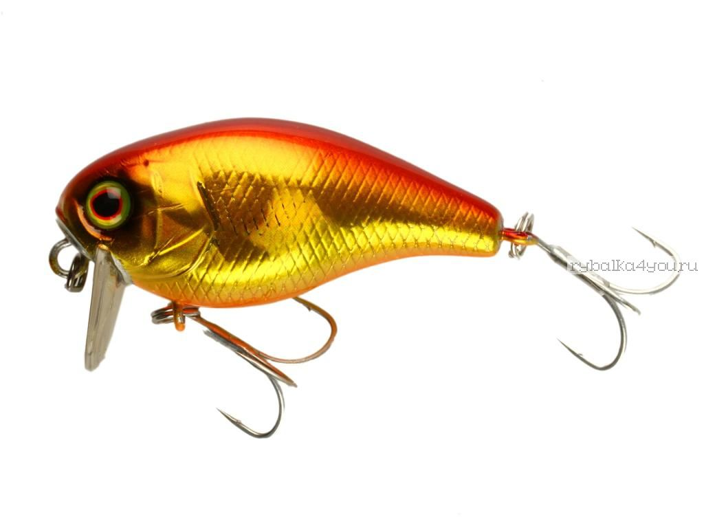 Купить Воблер Jackall Chubby 38 мм / 4 гр плавающий цвет:hl red & gold