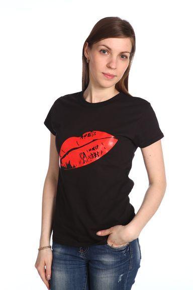 Губы футболка женская