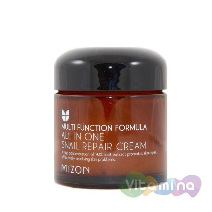 Крем с экстрактом улитки - Mizon 92% All In One Snail Repair Cream