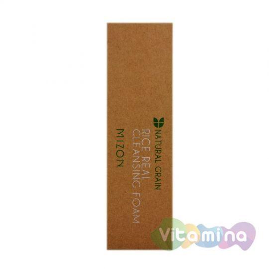 Очищающая пенка с натуральным рисом, 150 мл - Mizon Rice Real Cleansing Foam