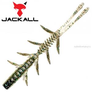 """Мягкая приманка Jackall Scissor Comb 2,5""""   / упаковка 10 шт / цвет: dark thunder iwashi"""